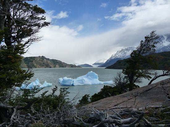 Lake Grey with Glacier Grey in the background