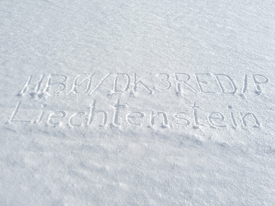 Callsign in the snow