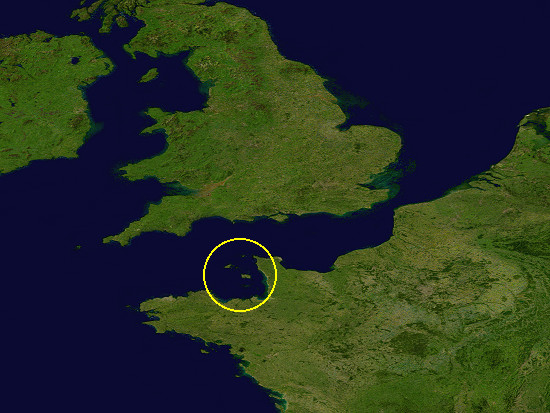 Satellite image of the Channel Islands