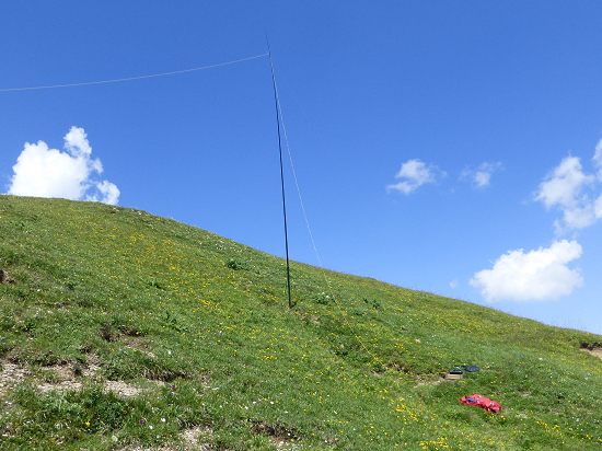 Radio station just below the summit on the Schönberg