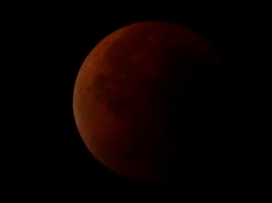 Total lunar eclipse 5 minutes before the end (0317 UTC)